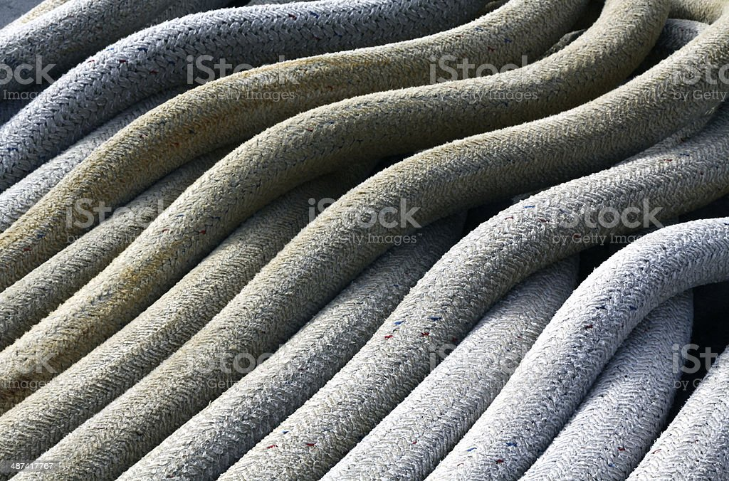Abstract View Of Ships Ropes royalty-free stock photo