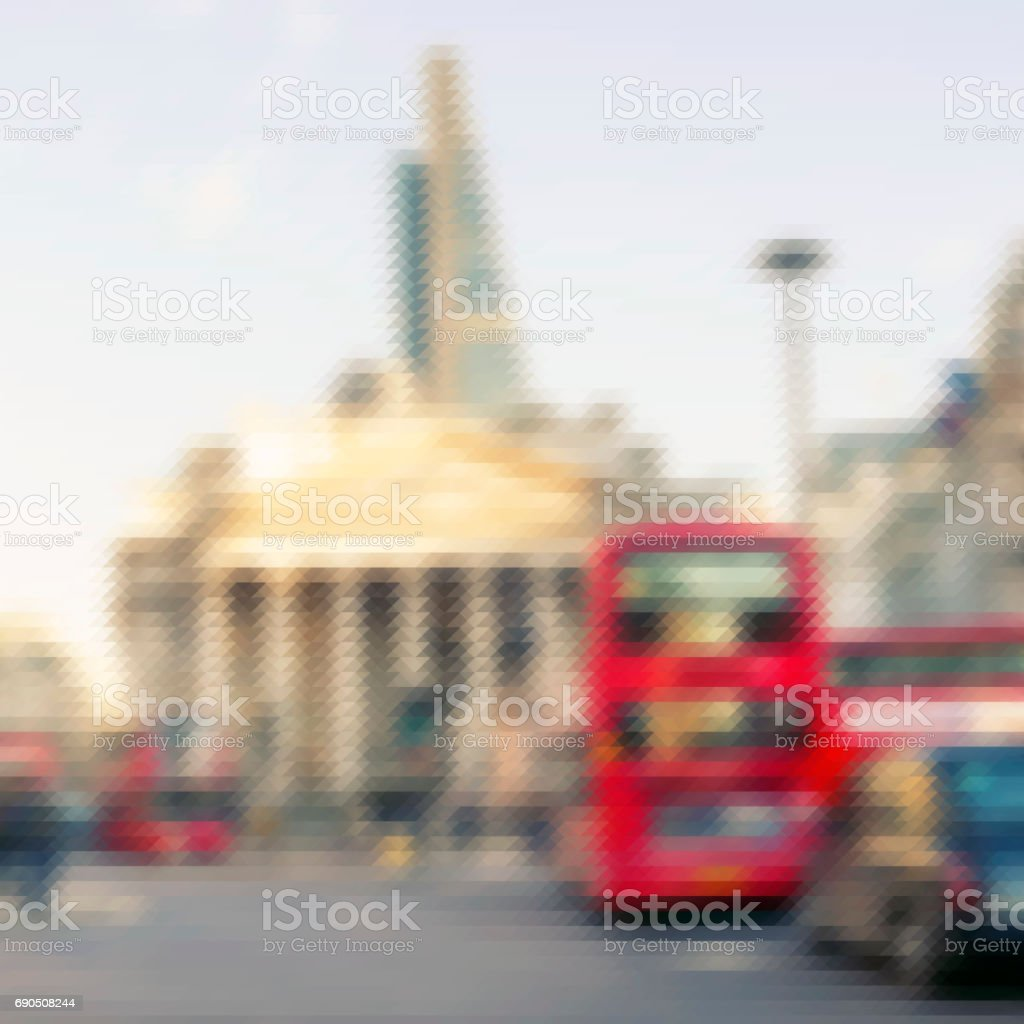 Abstract view of the City of London stock photo