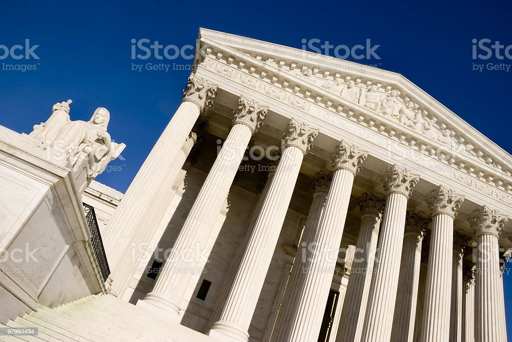 Abstract View of U.S. Supreme Court royalty-free stock photo