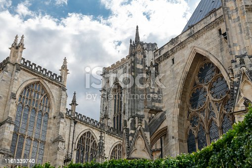 View of York Minster, England, the largest Gothic minster in Europe north of the Alps.