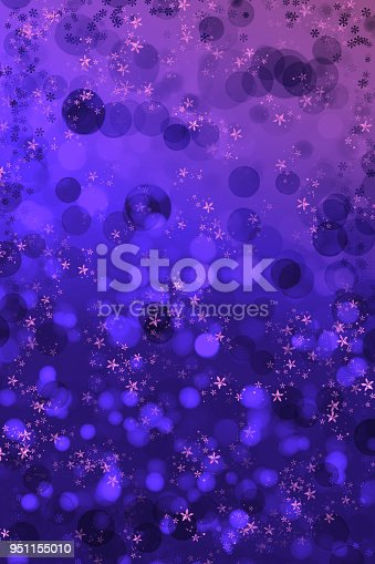 istock Abstract violet bokeh sparkling spray Background 951155010