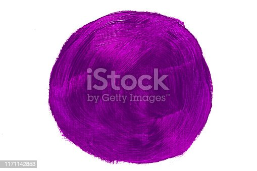 istock Abstract violet purple oil painting circle brush strokes 1171142853