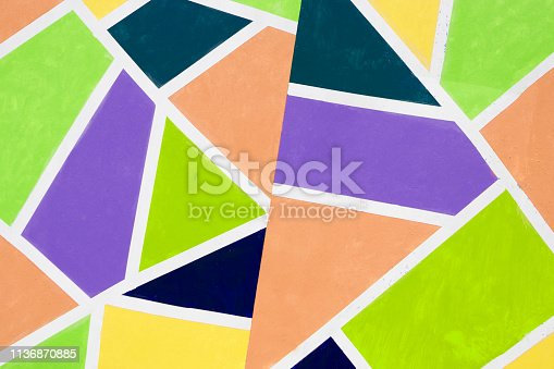 istock Abstract vitrage on glass. Hand drawn glass. Background with Christmas ornaments . 1136870885