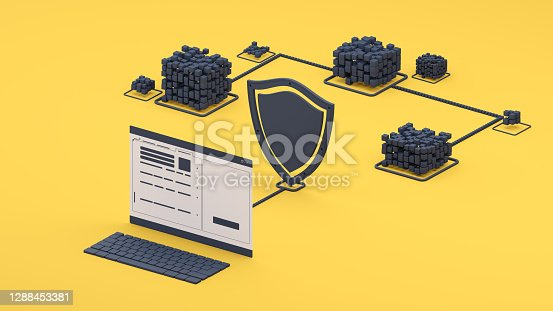 Conceptual image representing digital software VPN computing technology