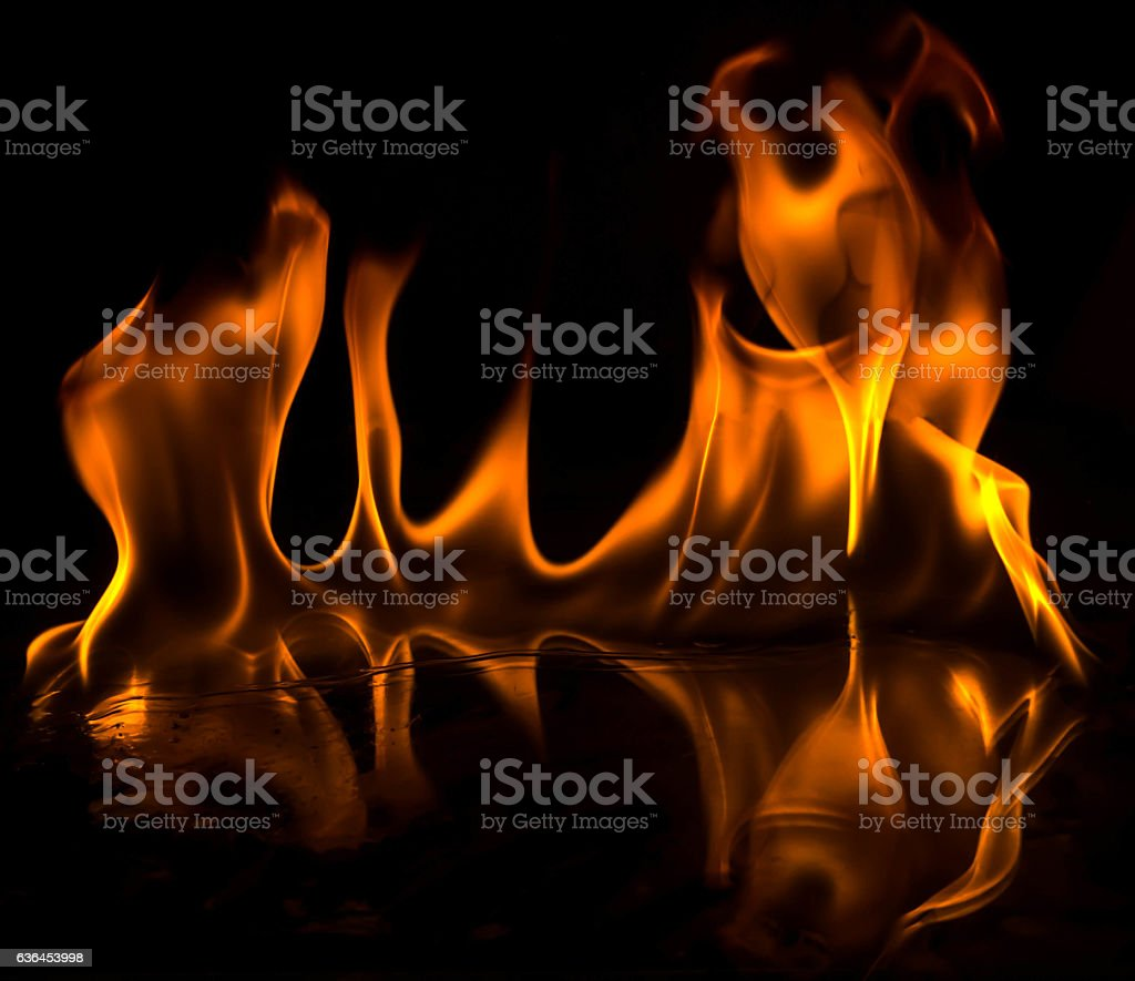 Abstract Wallpaper Fire Flames On Black Background Stock Photo Download Image Now Istock
