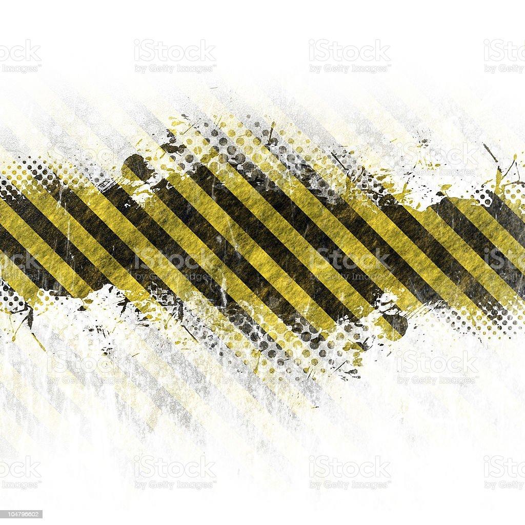 Abstract wallpaper made of hazard warning stripes stock photo