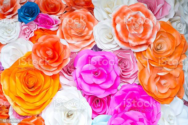 Abstract Wallpaper Rainbow Colorful Rose Flower Paper Background Stock Photo Download Image Now Istock