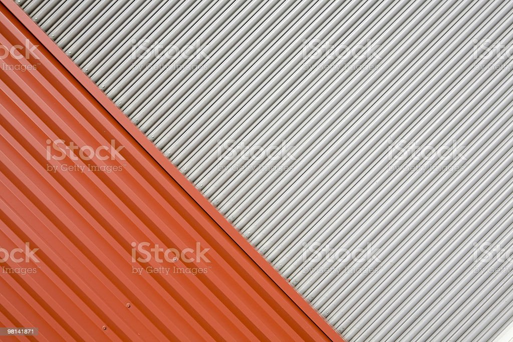 Abstract warehouse wall exterior; colored paneling and background texture backdrop royalty-free stock photo