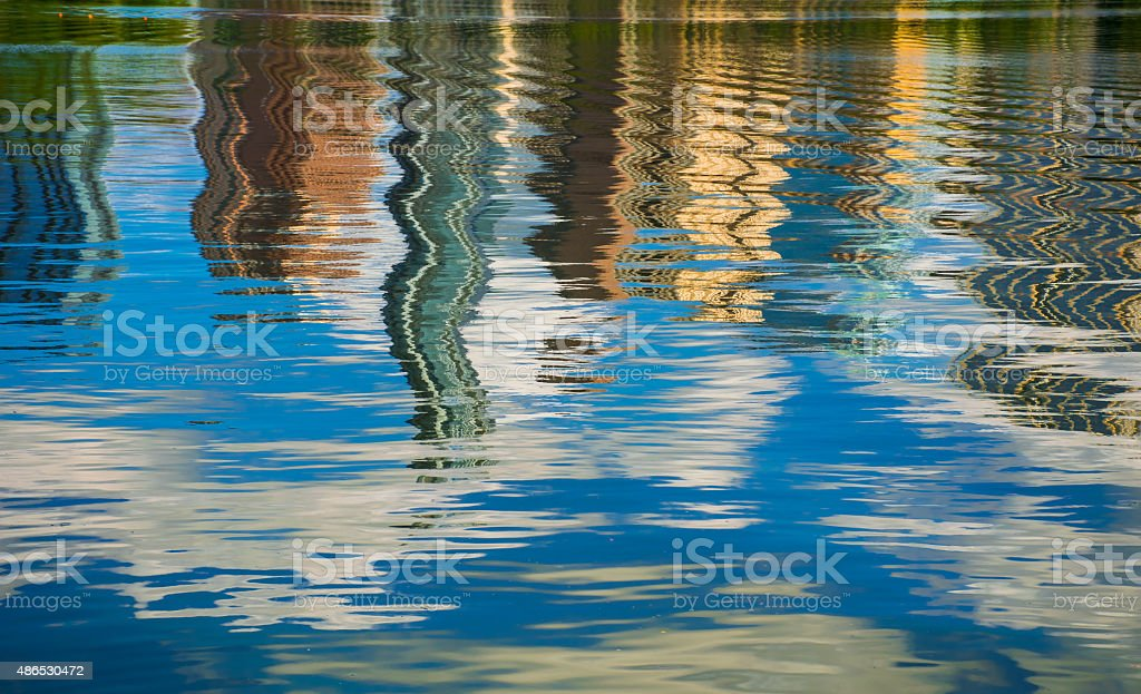 Abstract Water Art Austin Texas Town Lake Wave Reflections stock photo