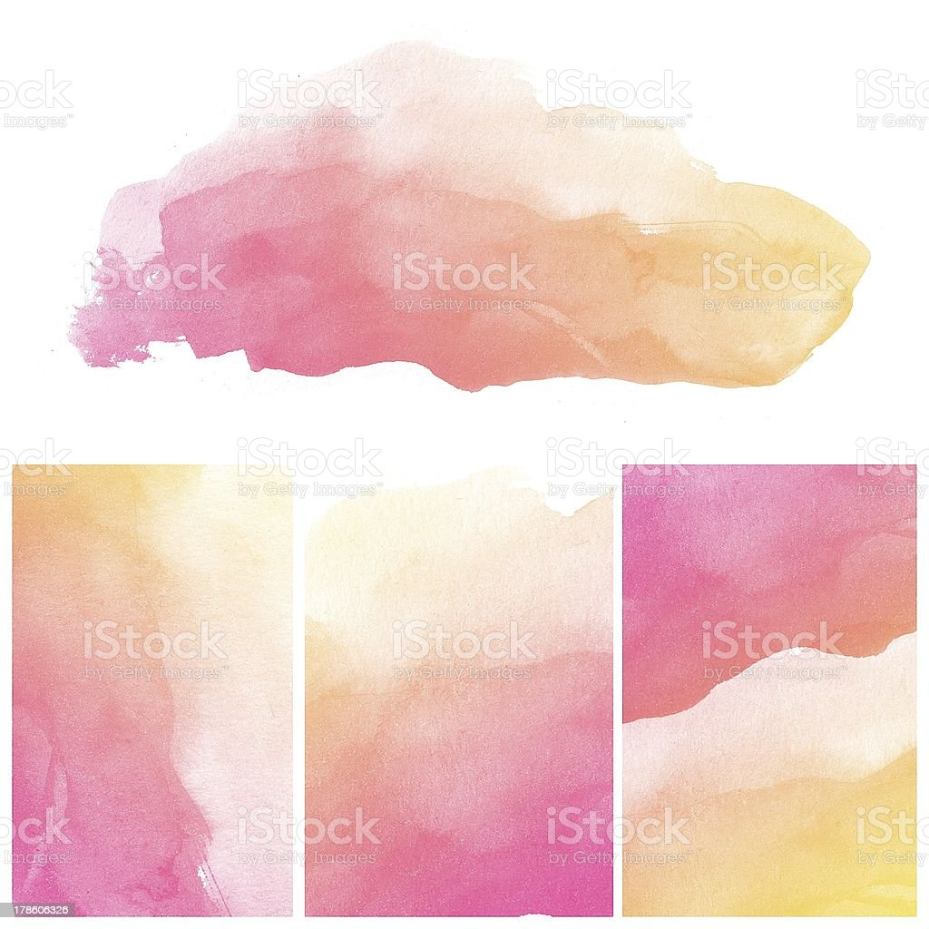 Abstract water color painting royalty-free stock photo