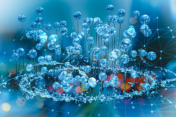 Abstract water network cluster stock photo