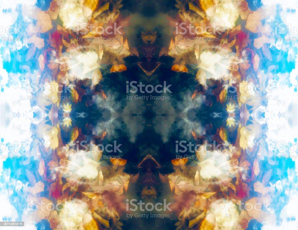 Abstrakte Wasser Reflexion Kaleidoskop – Foto