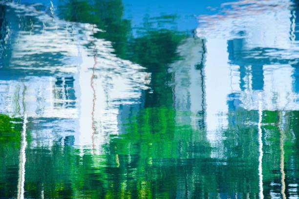 abstrakte wasser reflexion - acrylbilder modern stock-fotos und bilder