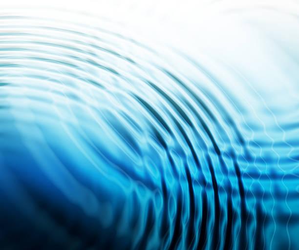 abstrait fond ondulations aquatiques - cercle concentrique photos et images de collection