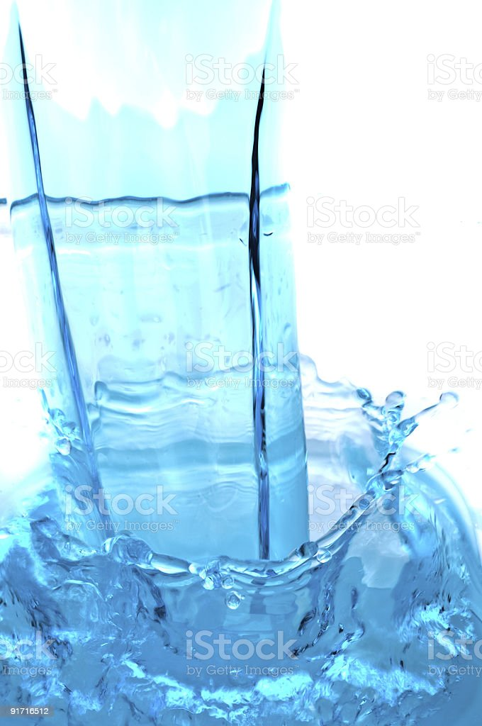 abstract water splash background royalty-free stock photo