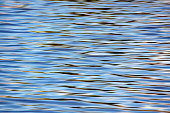 Abstract water surface background with ripples and sun reflection on it