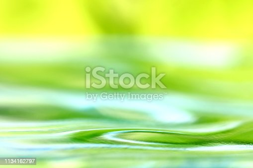Abstract green water surface.