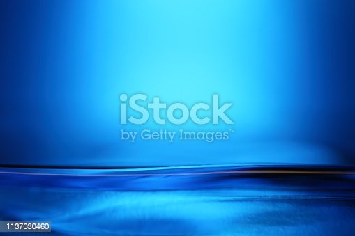 Abstract blue water surface.