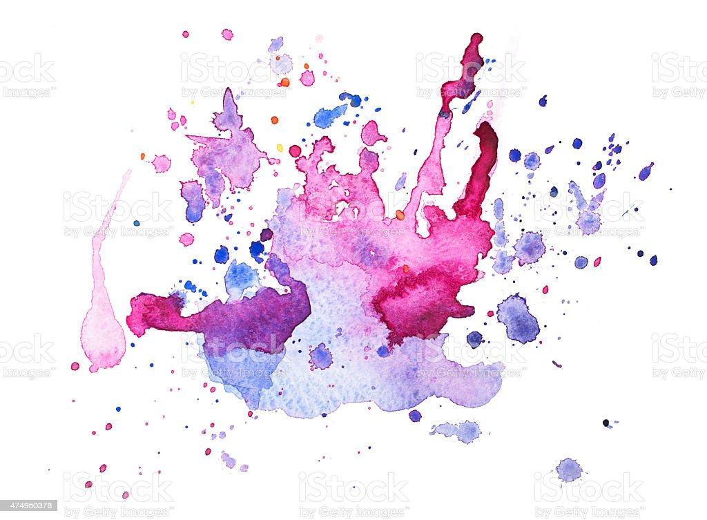 Fotografía De Abstracto Acuarela Aquarelle Dibujados A