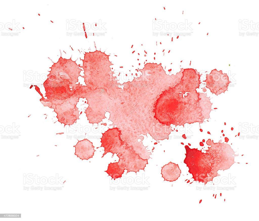 photo de aquarelle dessin main abstrait aquarelle rouge avec taches de peinture color es art. Black Bedroom Furniture Sets. Home Design Ideas