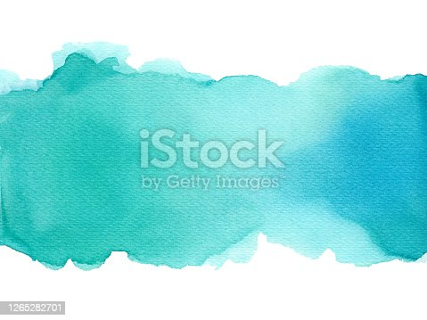 istock Abstract watercolor art hand paint on white background, Watercolor background. 1265282701