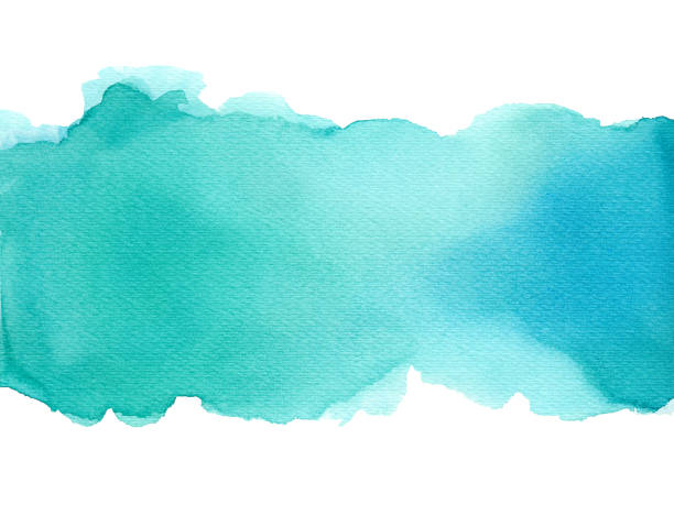 Abstract watercolor art hand paint on white background, Watercolor background. Abstract watercolor art hand paint on white background, Watercolor background. turquoise colored stock pictures, royalty-free photos & images