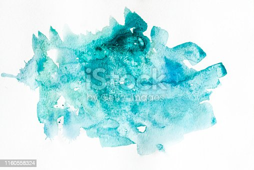 istock Abstract watercolor art hand paint. Soft colored abstract background for design. 1160558324