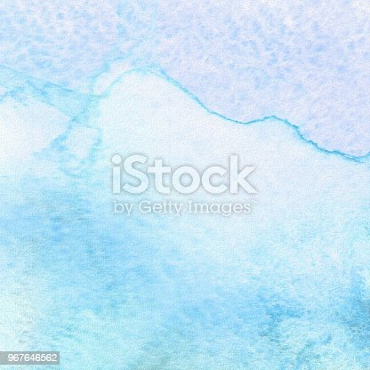 istock Abstract watercolor art hand paint. Watercolor texture. Gouache stains, blots, spots. 967646562