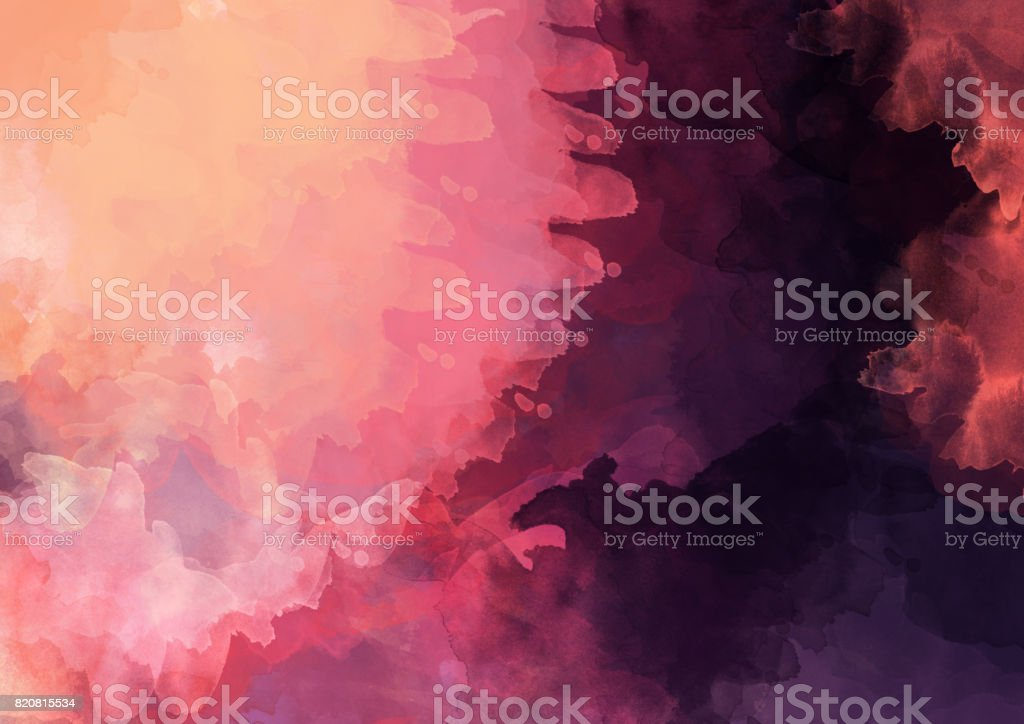 Abstract watercolor background image stock photo