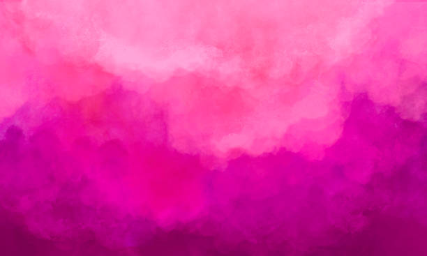 Abstract Watercolor Background - Magenta, Hot Pink - Soft Texture stock photo