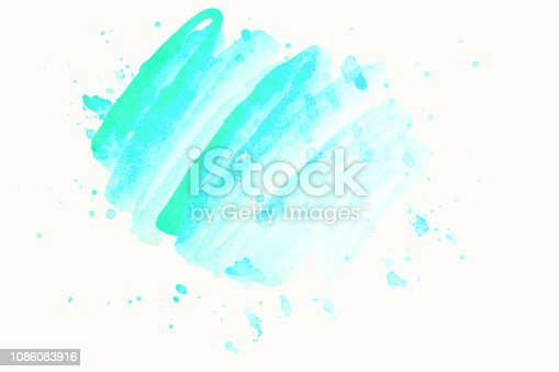 istock Abstract watercolor background on textured paper isolated on white. Watercolor background for designs. Cover templates for notepad. Fashionable backgrounds for designers 1086083916