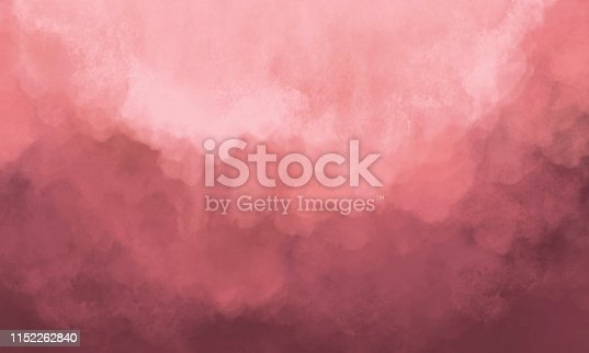 Abstract Watercolor Background - Pastel Coral Color - Salmon Color - Soft Texture
