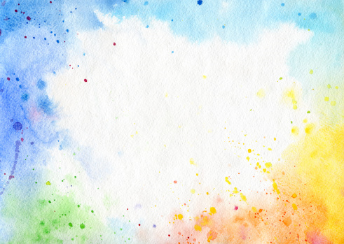 Abstract watercolor background. Hand-painted on watercolor paper