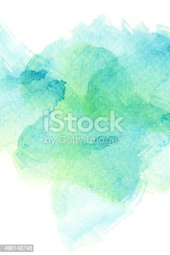 istock Abstract watercolor background. 490140748