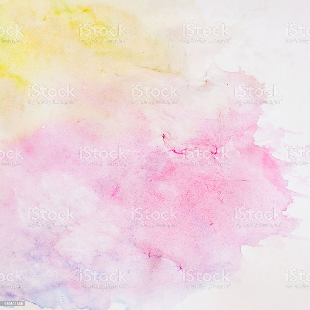 Abstract watercolor background, texture in Delicate shades of spring colors stock photo