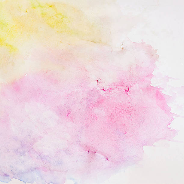 abstract watercolor background, texture in delicate shades of spring colors - malkreide stock-fotos und bilder