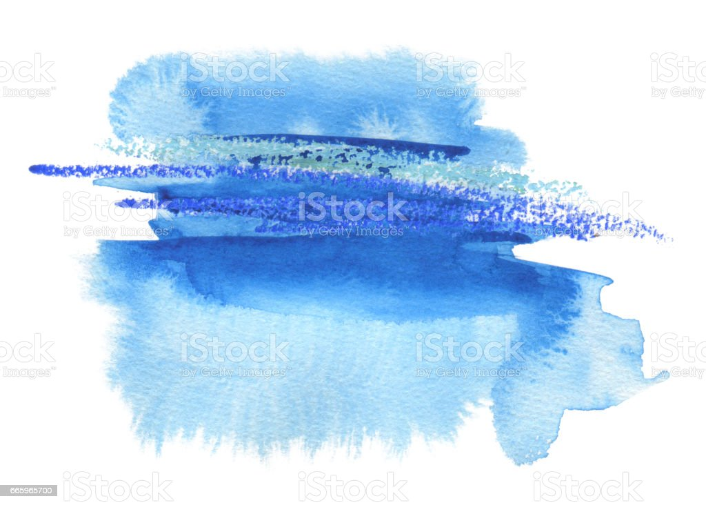 Abstract watercolor blot painted background. Texture paper. Isolated. stock photo