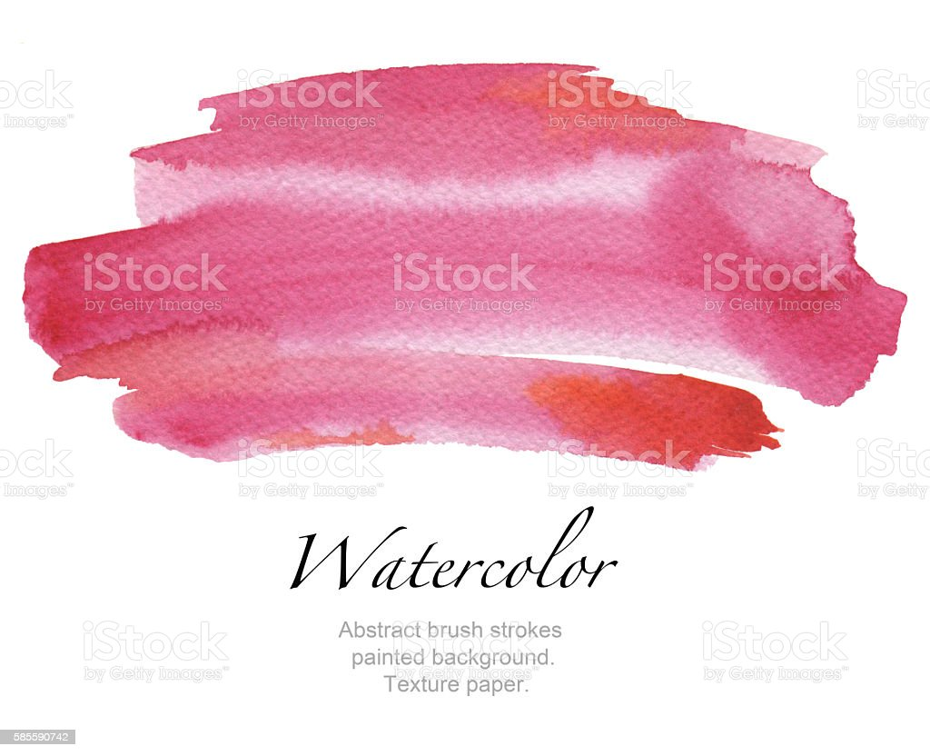 Abstract watercolor brush strokes painted background. - Photo