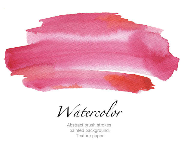 Abstract watercolor brush strokes painted background. - foto stock