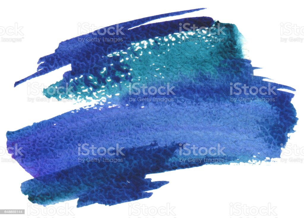 Abstract watercolor brush strokes painted background. Texture paper. стоковое фото