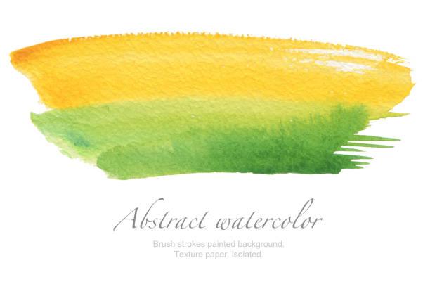 Traçados de pincel aquarela abstrata pintado o fundo. Papel de textura. isolado. - foto de acervo