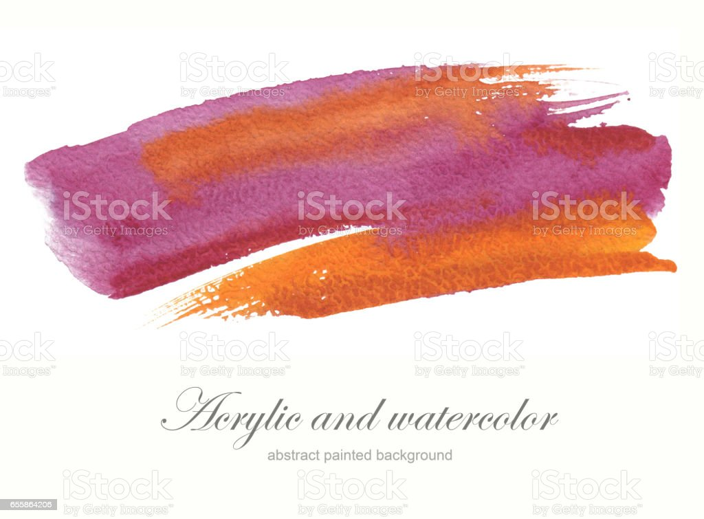 Abstract watercolor brush strokes painted background. Texture paper. Isolated. stock photo