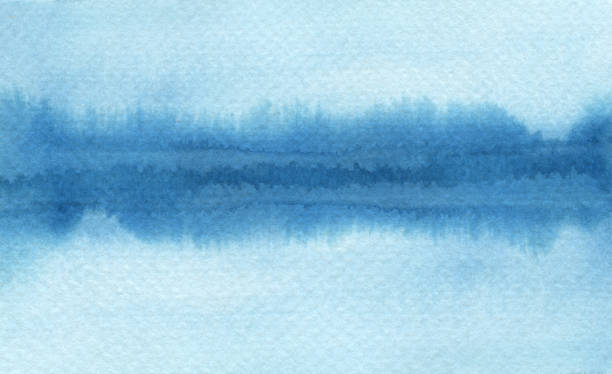 Abstrakte Aquarell Pinselstrichen gemalten Hintergrund. Textur-Papier. Isoliert. – Foto
