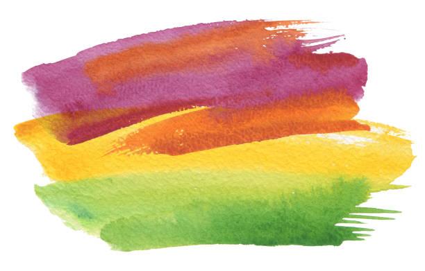 Abstrakte Aquarell Pinselstrichen gemalten Hintergrund. Textur-Papier. – Foto