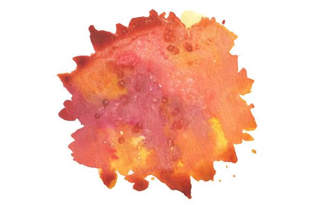 Abstrakte Aquarell Kreis Fleck Hintergrund gemalt. Textur-Papier. Isoliert. – Foto