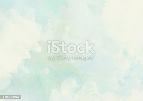 istock Abstract watercolor cloudscape painting in soft pastel colors 1156635873