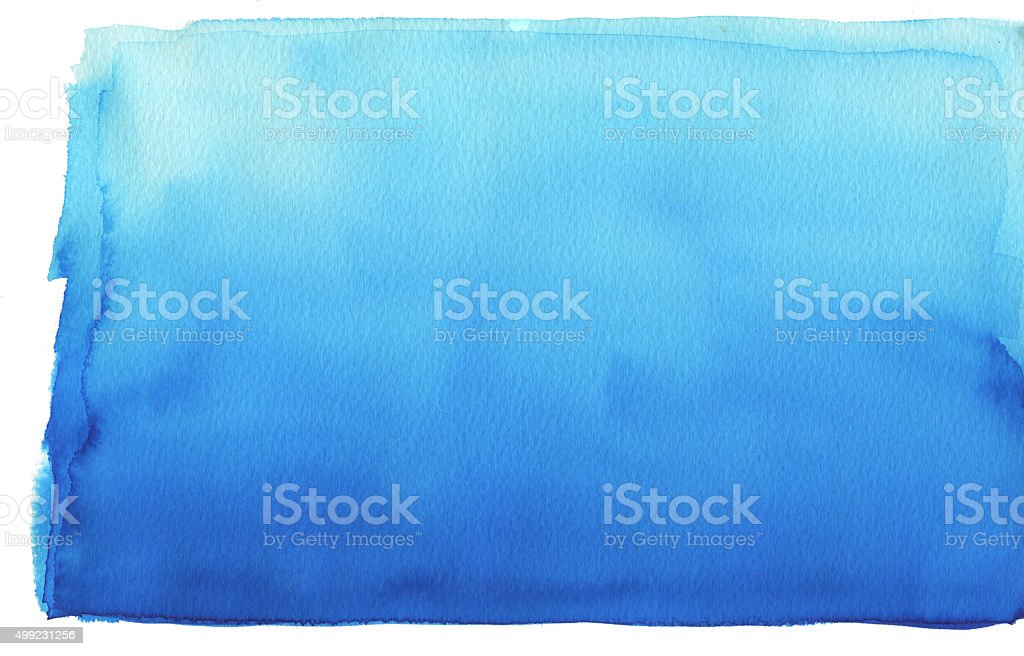 Abstract watercolor gradient blue background on rough textured p stock photo