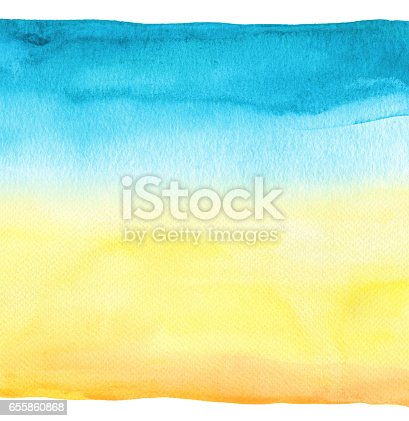 istock Abstract watercolor hand painted background. Textured paper. 655860868