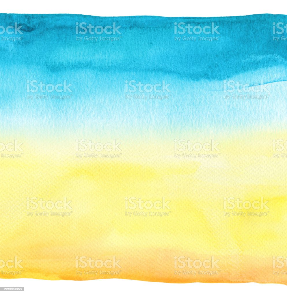 Abstract watercolor hand painted background. Textured paper. stock photo
