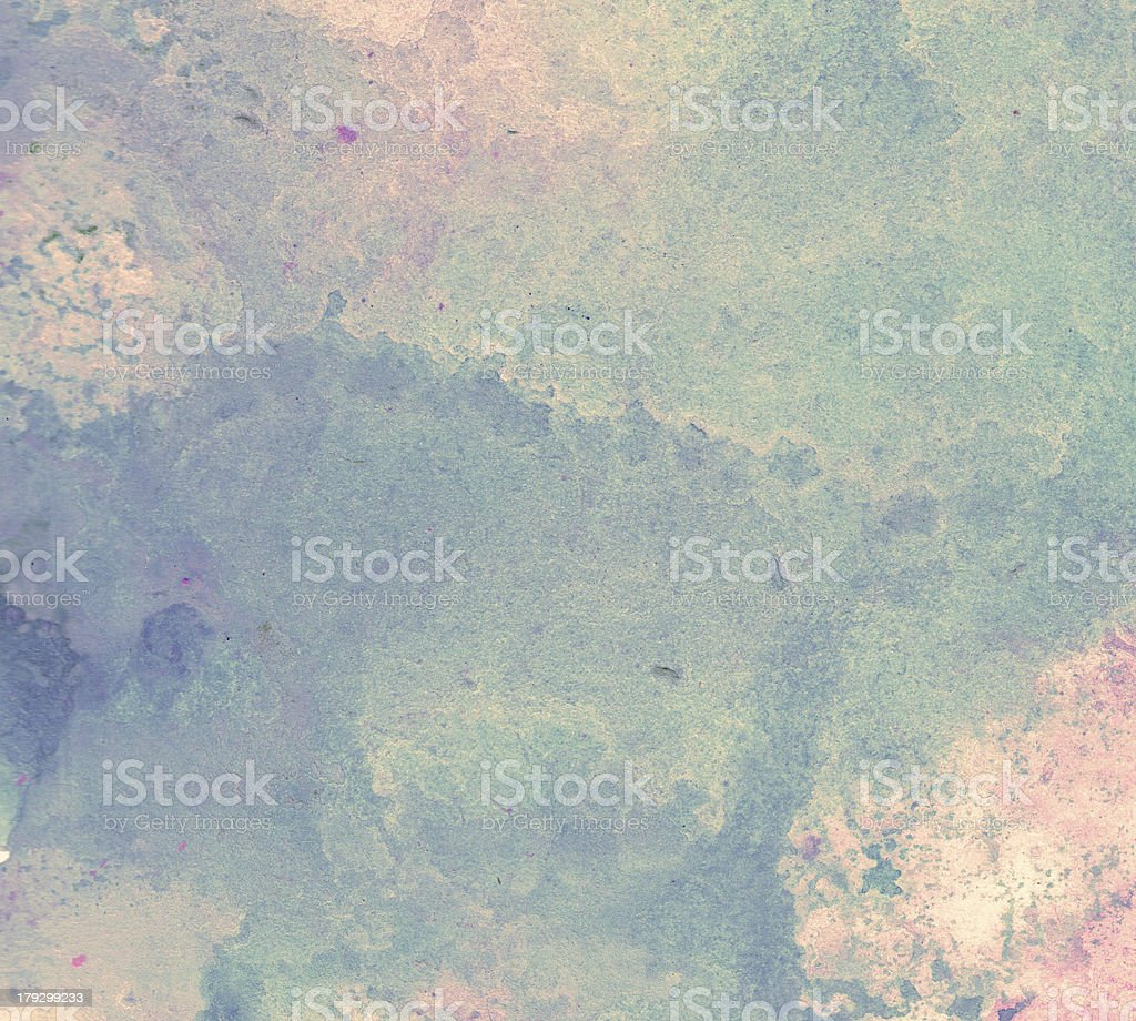 Abstract Watercolor nature painting stock photo